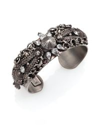 DANNIJO | Metallic Locklyn Crystal Cuff Bracelet | Lyst
