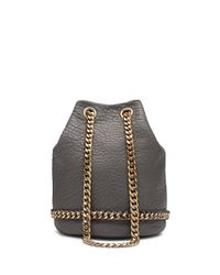 Vince Camuto | Gray Zigy Large Leather Crossbody | Lyst
