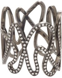 Repossi - Metallic Diamond & Black Gold White Noise Ring - Lyst