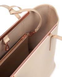 Ted Baker - Natural Crosshatch Leather Shopper Bag - Lyst