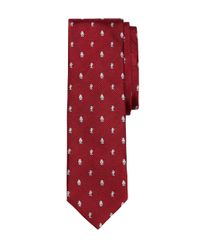 Brooks Brothers - Red Radio Slim Tie for Men - Lyst