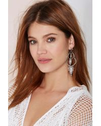 Nasty Gal - Metallic Paola Chandelier Earrings - Lyst