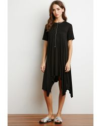 Forever 21 - Black Trapeze T-shirt Dress - Lyst