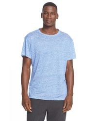 T By Alexander Wang | Blue Feeder Stripe Linen T-Shirt for Men | Lyst