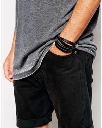 Royal Republiq | Black Leather Wrap Bracelet for Men | Lyst