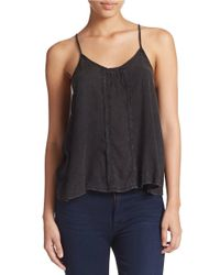 Free People | Black Strappy Tank | Lyst