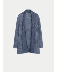 Violeta by Mango - Blue Flecked Metal Cardigan - Lyst