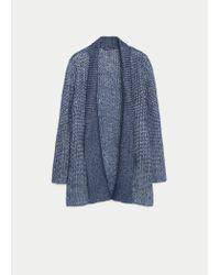 Violeta by Mango | Blue Flecked Metal Cardigan | Lyst
