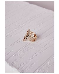 Missguided | Metallic Aztec Detail Ring Gold | Lyst