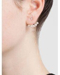 Yvonne Léon | 18Kt White Gold Mini Pearl Lobe Earring | Lyst