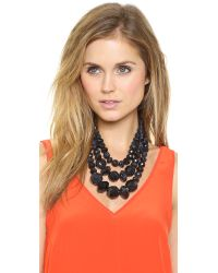 kate spade new york - Black Give It A Swirl Triple Strand Statement Necklace - Lyst