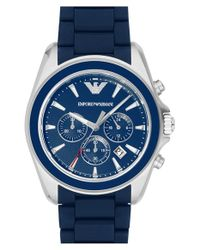 Emporio Armani - Blue Chronograph Watch for Men - Lyst