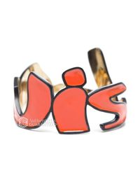 Louis Vuitton | Orange Preowned Stephen Sprouse Enamel Graffitti Bracelet | Lyst