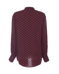 Mother Of Pearl | Red Temple Silk Shirt | Lyst