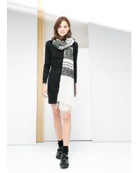 Mango - Black Jersey Dress - Lyst