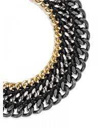 BaubleBar | Black Triple Chain Collar | Lyst