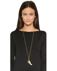Tory Burch - Metallic Charm Pendant Necklace - Gold Ox - Lyst