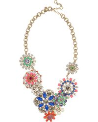 J.Crew | Multicolor Flower Lattice Necklace | Lyst