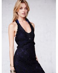 Free People - Black Ana'S Limited Edition Lace Halter Dress - Lyst