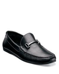 Florsheim   Black Jasper Leather Bit Loafers for Men   Lyst