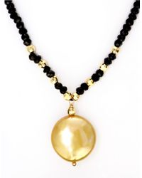 Effy | Metallic 14k Yellow Gold Freshwater Pearl Coin Necklace | Lyst