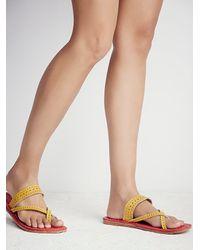 Free People - Red Maui Slip On Sandal - Lyst