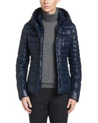 HUGO | Blue Down Jacket: 'fayes' | Lyst