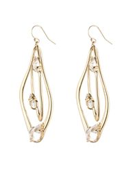 Alexis Bittar | Metallic Gold Liquid Crystal Orbiting Earring | Lyst