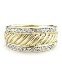 David Yurman - Metallic Pre-owned 18ky with Diamonds Ring - Lyst