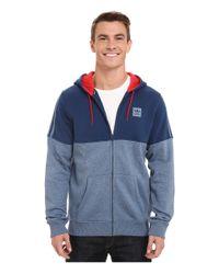 Adidas Originals - Blue Tracked Hooded Sweatshirt for Men - Lyst