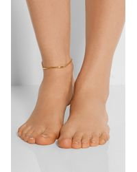 Maria Black | Metallic Love Bite Gold-plated Anklet | Lyst