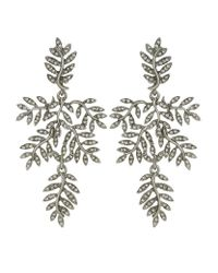 Oscar de la Renta - Metallic Crystal Vine Clip-on Earrings - Lyst