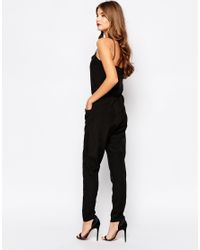 Oh My Love - Black Strappy Jumpsuit - Lyst