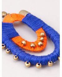 Blue Man | Blue Bicolor Earrings | Lyst