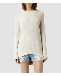 AllSaints - Natural Quinta Cotton Sweater - Lyst