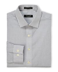 Pierre Cardin - Gray Charcoal & White Check Slim Fit Dress Shirt for Men - Lyst