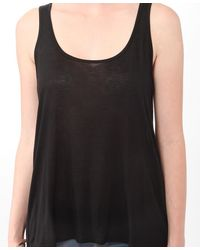 Forever 21 - Black Gathered Back High-low Tank - Lyst
