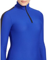 Lauren by Ralph Lauren | Blue Plus Stretch-mesh Pullover | Lyst