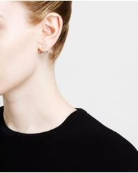 Yvonne Léon | Metallic 18k Gold & Diamond Lobe Earring | Lyst