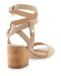 Sigerson Morrison - Natural Rina Suede City Sandals - Lyst