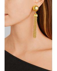 Ben-Amun - Metallic Gold-Plated Tassel Clip Earrings - Lyst