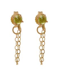 Melissa Joy Manning - Metallic Gold And Peridot Chain Stud Earrings - Lyst