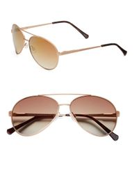 Vince Camuto | Pink 64Mm Classic Aviator Sunglasses | Lyst