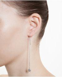 Saint Laurent - Metallic Sterling Silver Star And Heart Earrings - Lyst