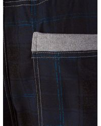 DIESEL - Blue Checked Pyjama Pants for Men - Lyst