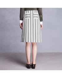 Trademark | Green Gond Stripe Skirt | Lyst