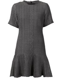Sea | Gray Ruffle-Hem Wool-Blend Dress | Lyst