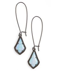 Kendra Scott - Blue 'mystic Bazaar - Lori' Drop Earrings - Gunmetal Iridescent Opalite - Lyst