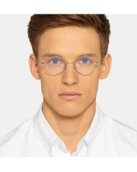 Cutler & Gross - Metallic Palladium-Plated Stainless Steel Round-Frame Optical Glasses for Men - Lyst