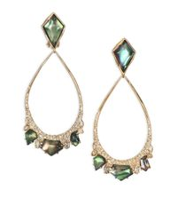 Alexis Bittar | Green Miss Havisham Liquid Black Mother-of-pearl & Crystal Clip-on Teardrop Earrings | Lyst